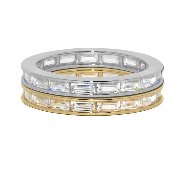 80dbcfa1acafe Shop 14k Yellow or White Gold Baguette-cut Cubic Zirconia Eternity ...