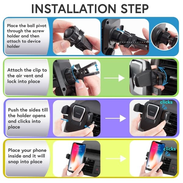 Shop Insten Universal One Touch Air Vent Car Mount Stand With 360