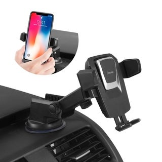 INSTEN Universal One-Touch Car Phone Mount for Windshield/Dashboard w/ 360-degree Rotation Suction Arm for iPhone X/ Galaxy S9