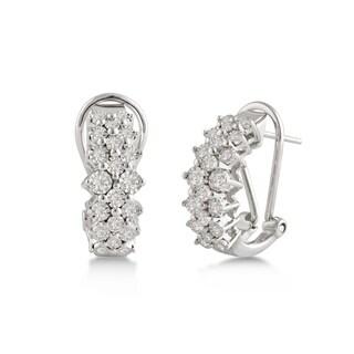Divina Sterling Silver 1/3ct TDW Diamond Hoop Earrings
