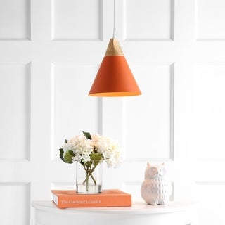 "Safavieh Lighting Cila Pendant - Orange - 10"" x 10"" x 12.9-84.9"""