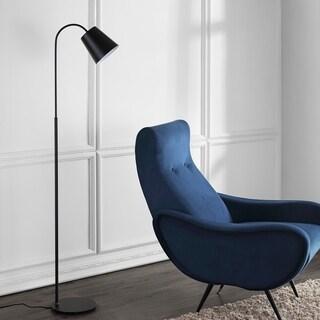 "Safavieh Lighting Toria 57 Inch Floor Lamp - Black - 14.5"" x 9"" x 57"""