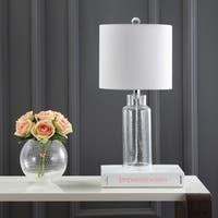 "Safavieh Lighting Carmona Table Lamp 21 Inch - White - 10"" x 10"" x 21"""