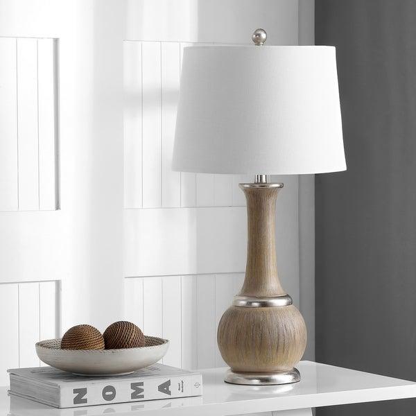 Shop Safavieh Lighting Nash Table Lamp 28 5 Inch Silver 14 X 14