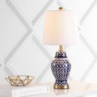 "Safavieh Lighting Kyra Table Lamp 21 Inch - Blue / White - 10"" x 10"" x 21"""