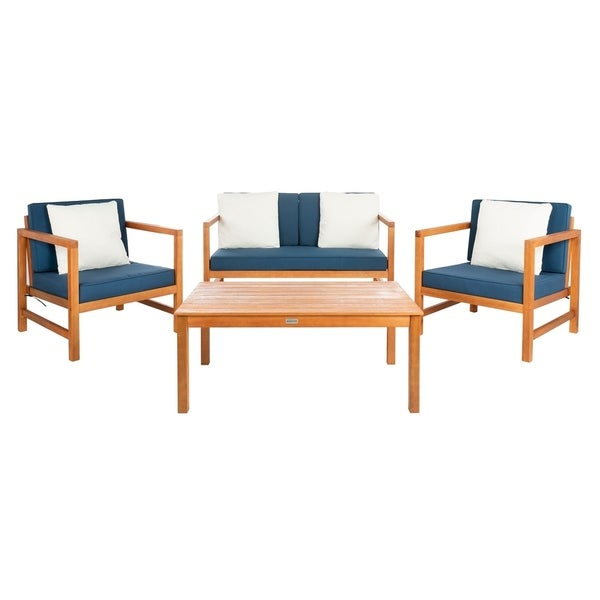 Shop Safavieh Outdoor Living Montez 4 Piece Set- Natural ... on Safavieh Outdoor Living Montez 4 Piece Set id=86879