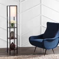 "Safavieh Lighting Rista Shelf 58.5 Inch Floor Lamp - Cherry - 10"" x 10"" x 58.5"""