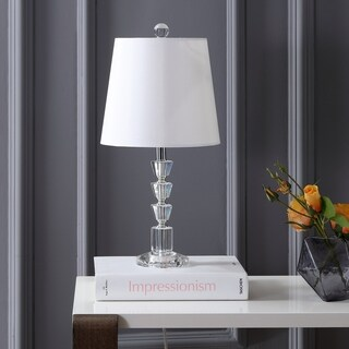 "Safavieh Lighting Martos Table Lamp 18.5 Inch - White - 9"" x 9"" x 18.5"""