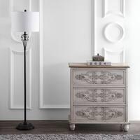 "Safavieh Lighting Tarri 60 Inch Floor Lamp  - Brass - 14"" x 14"" x 60"""