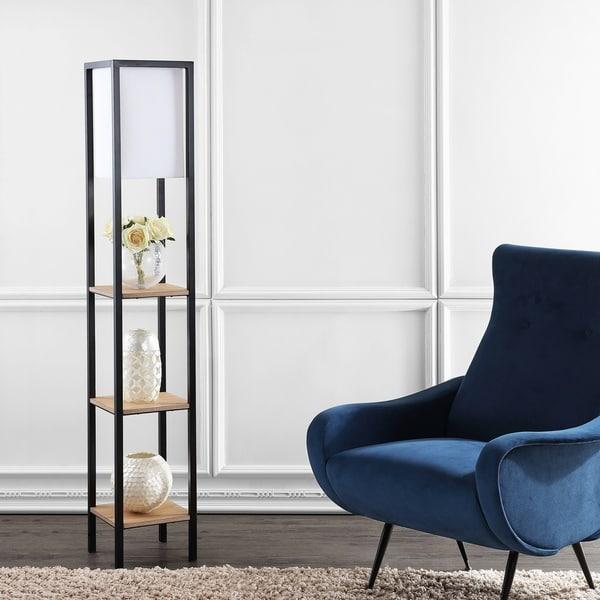 "Safavieh Lighting Rista Shelf 58.5 Inch Floor Lamp - Assorted - 10"" x 10"" x 58.5"""