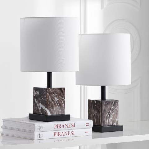 Safavieh Lighting 18-inch Abril Brown LED Table Lamp (Set of 2)