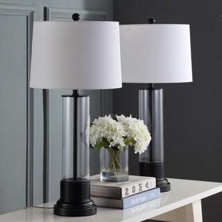 "Safavieh Lighting Jayse Table Lamp 30.5 Inch - Black - 14"" x 14"" x 30.5"""