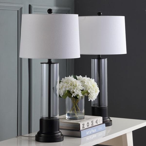 Shop Safavieh Lighting Jayse Table Lamp 30 5 Inch Black 14 X 14