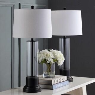 "Safavieh Lighting 31-inch Jayse Black LED Table Lamp (Set of 2) - 14""x14""x30.5"""