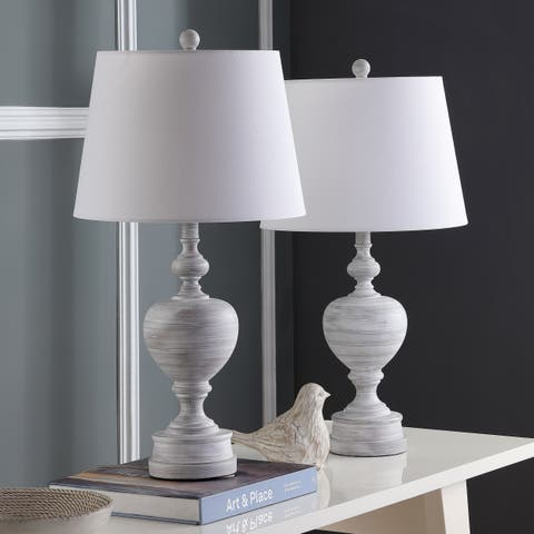 Safavieh Lighting 27-inch Alban White LED Table Lamp (Set of 2)