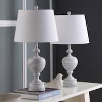"Safavieh Lighting Alban Table Lamp 27 Inch - White - 14"" x 14"" x 27"""