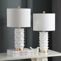 "Safavieh Lighting Nico Table Lamp 25 Inch - White / Gold - 13"" x 13"" x 25"""