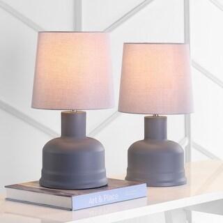 "Safavieh Lighting Dahlia Table Lamp 18.5 Inch - Grey - 10"" x 10"" x 18.5"""