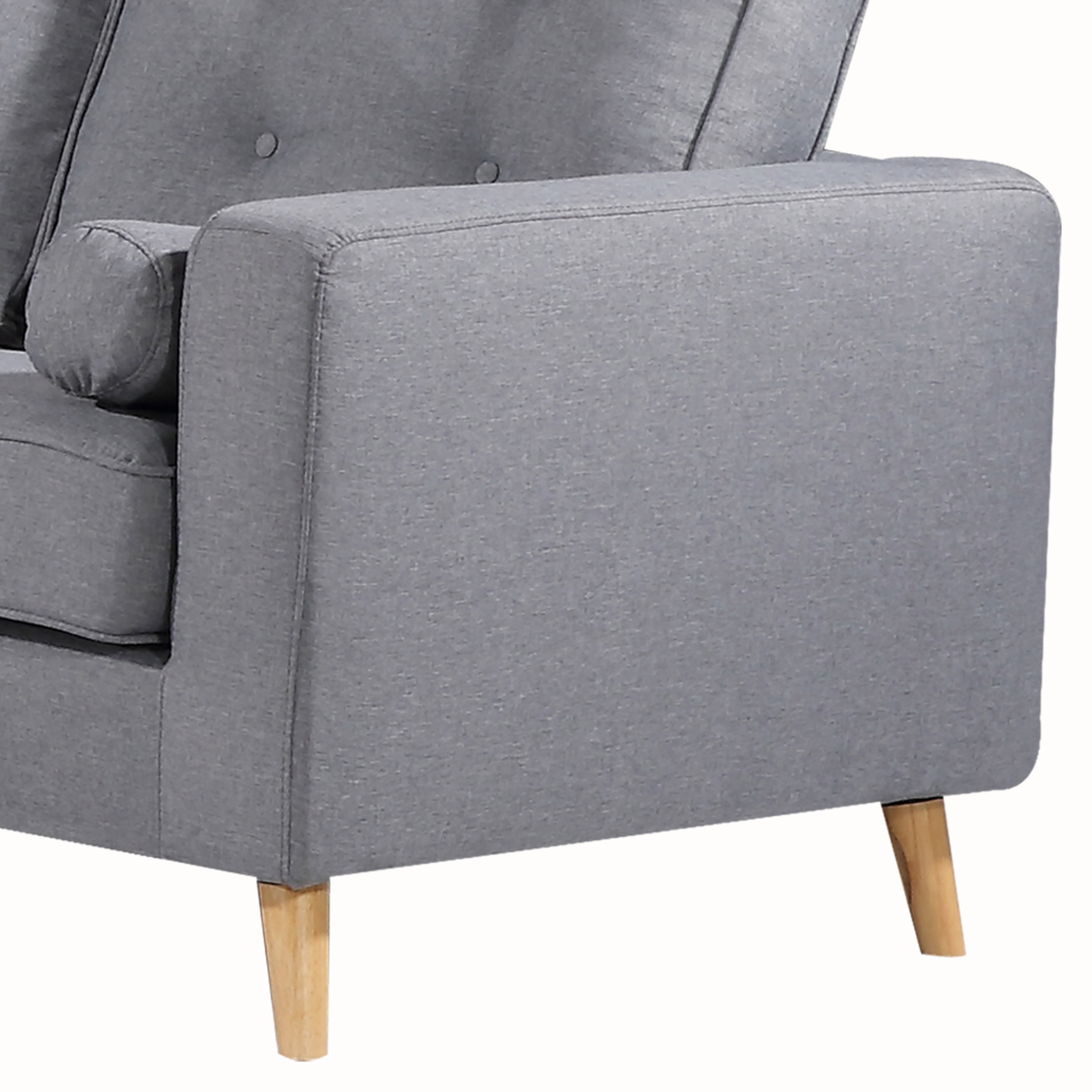 Tremendous Ethan Mid Century Upholstered Tufted Grey Loveseat Machost Co Dining Chair Design Ideas Machostcouk