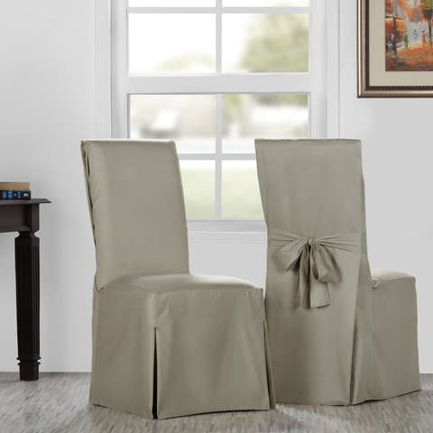 Exclusive Fabrics Solid Cotton Twill Chair Covers (Sold As Pair)