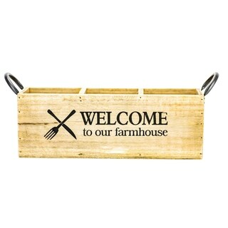 Farmhouse Wooden Flatware Caddy