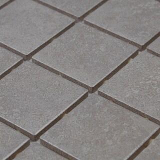 2x2 Ceramic Mosaic Stone Looking 12x24 Mosaic Sheet Candido - 24 x 12