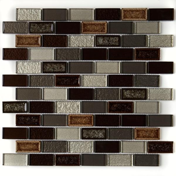 Crystal Shores 2X1 BrickJoint Mosaic Hazel Harbor - 12.75 x 11.75