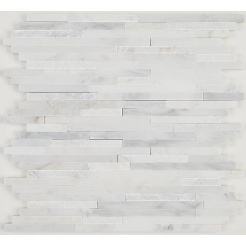 Pebble Mosaic Tile in Earthy Blend - 12.125 x 12.125