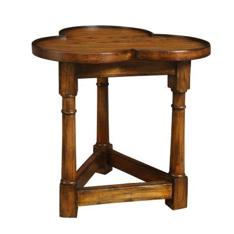 Siobhan End Table (Honey/ Dark Brown)