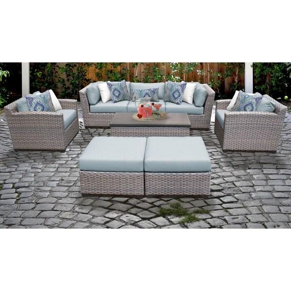 Shop Florence 8 Piece Outdoor Wicker Patio Furniture Set 08c Free