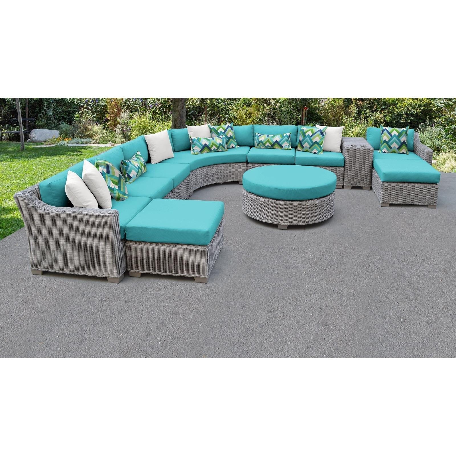 Coast 11 Piece Outdoor Wicker Patio Furniture Set