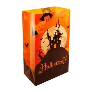 Halloween House Plastic Luminaria Bags 12ct