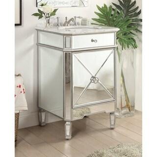 """24"""" Benton Collection Asger Powder Room Silver Bathroom Vanity"""