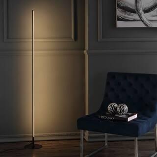 "Iris 59.5"" LED Integrated Floor Lamp, Black by JONATHAN Y"