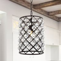 "Gabrielle 15"" Crystal/Metal LED Pendant, Oil Rubbed Bronze by JONATHAN  Y"