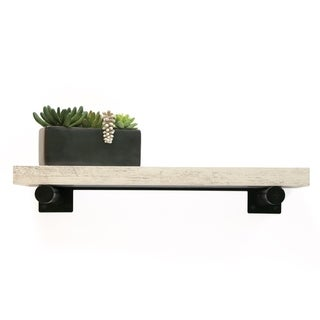 InPlace 24-inch Distressed White Shelf w/Bracket