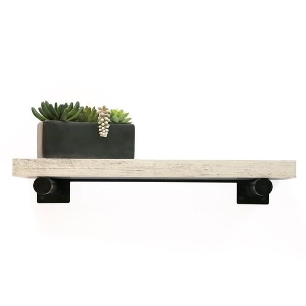 InPlace 24-inch Distressed White Shelf w/Bracket