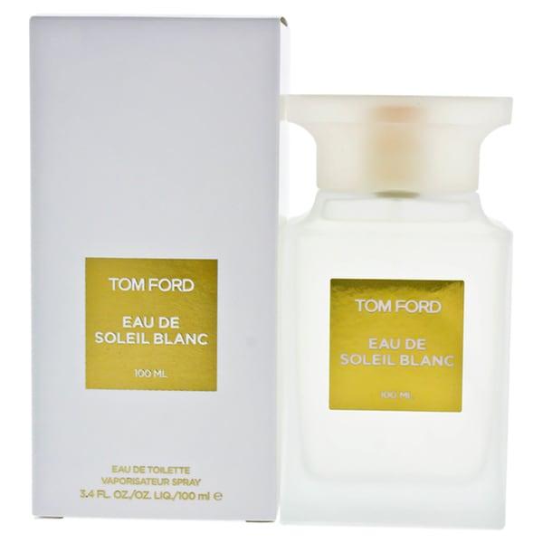 b309576bf964e Shop Tom Ford Eau de Soleil Blanc Men s 3.4-ounce Eau de Toilette Spray - Free  Shipping Today - Overstock - 23618445