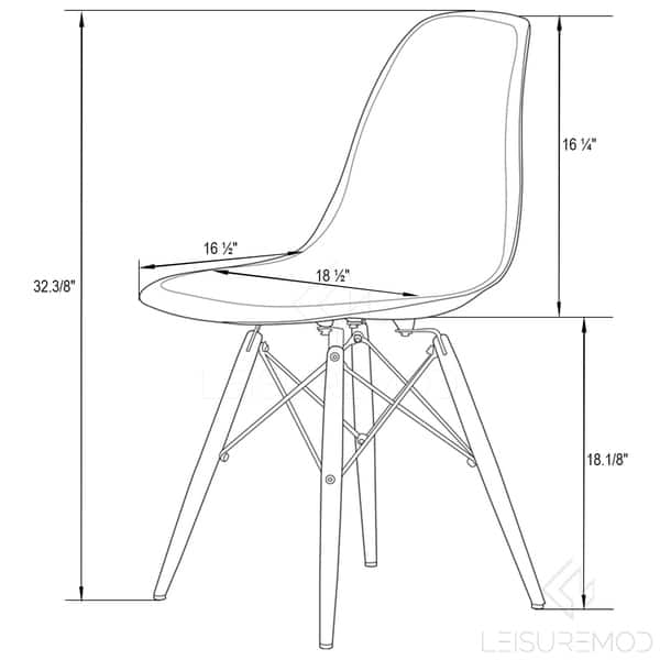 Pleasant Shop Leisuremod Dover Transparent Red Dining Chair Eiffel Dailytribune Chair Design For Home Dailytribuneorg