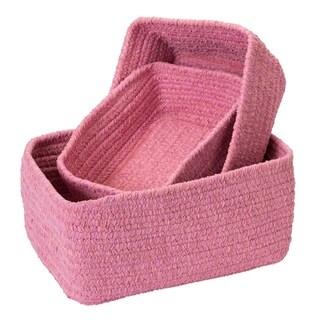 Chenille Soft Nursery Nesting 3-Piece Basket Set