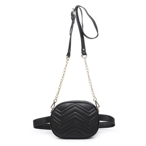 MKF Collection Shawnie 2 in 1 Chevron Quilted Belt Bag by Mia K.