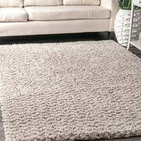 """nuLOOM Ivory Contemporary Moroccan Inspired Luxuries Soft and Plush Solid Chevron Shag Square Area Rug - 7'10"""" Square"""