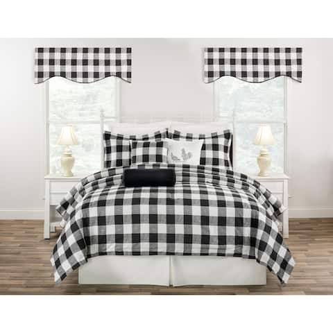 Cottage Classic Plaid mini comforter set Black, Blue or Yellow