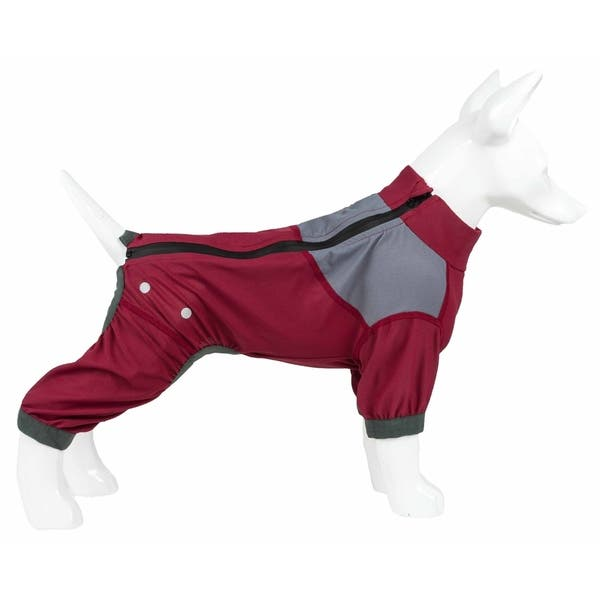 Grey X-Large Dog Helios Tail Runner Lightweight 4-Way-Stretch Breathable Full Bodied Performance Dog Track Suit