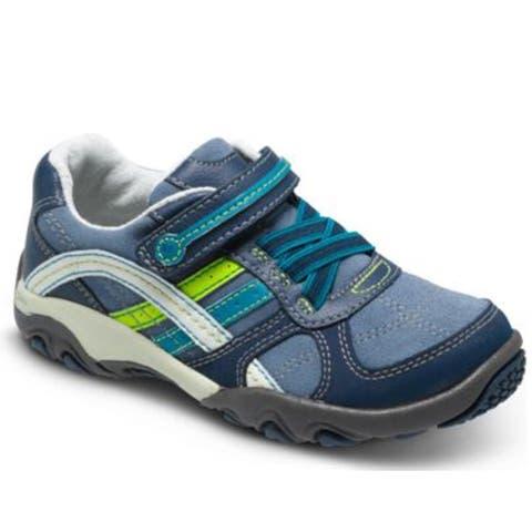 Stride Rite SRT Declan Sneakers Navy Green (Toddler Size)