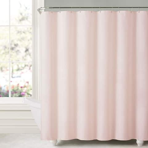 "Honeycomb Embossed Microfiber Shower Curtain/Liner (70""x72"") Blush"