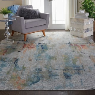 Link to Nourison Global Vintage GLB09 Abstract Area Rug Similar Items in Transitional Rugs