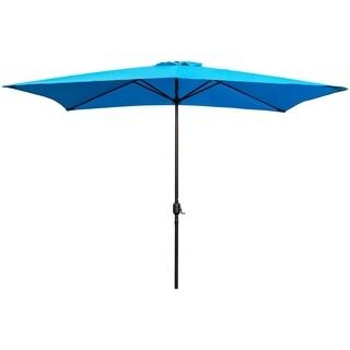 Maypex 10 X 6.5 Feet Rectangular Market Umbrella - Tan
