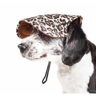 Pet Life ® 'Cheetah Bonita' Cheetah Patterned Uv Protectant Adjustable Fashion Dog Hat Cap