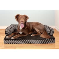 FurHaven Pet Bed | Plush & Décor Comfy Couch Cooling Gel Top Sofa Dog Bed